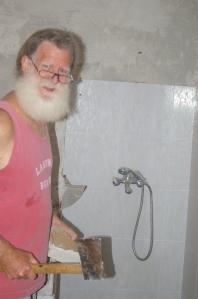 Goodbye ugly shower!